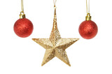 Christmas star and baubles