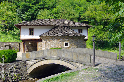 bridge in the architectural-ethnographic village of Etar, Bulgaria