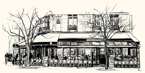 old cafe in Paris