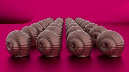 Escargots en chocolat