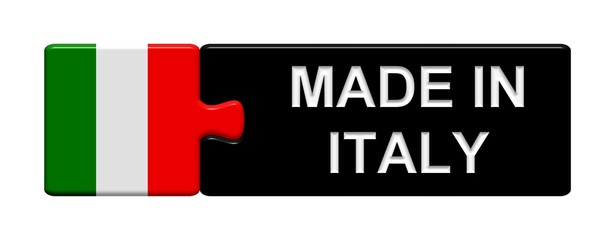 Puzzle-Button Italien: Made in Italy