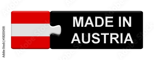 Puzzle-Button Österreich: Made in Austria