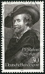 GERMANY - 1977: shows painter Peter Paul Rubens (1577-1640)