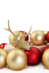 Christmas deer and baubles