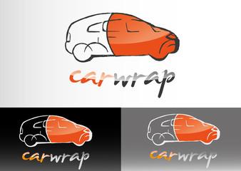 car wrap autofolierung logo