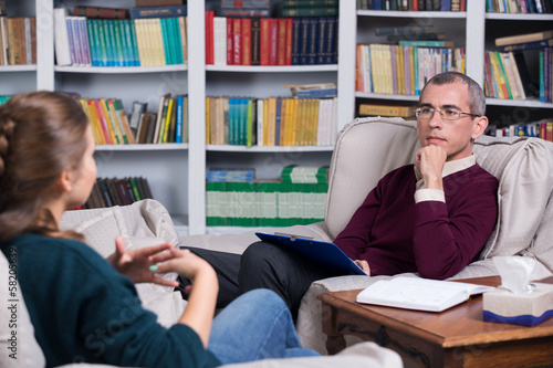 Psychiatrist and woman patient
