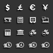 Financial and money icon set