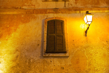 Ciutadella Menorca wooden shutter window