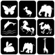 Silhouette of animals - vector illustration