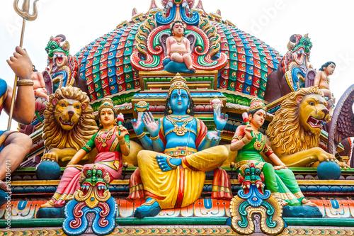 Plexiglas Singapore Hindu temple in Singapore