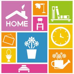 interior design, home background, colorful background