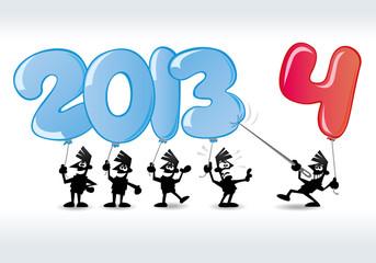 lustige neujahrskarte 2014