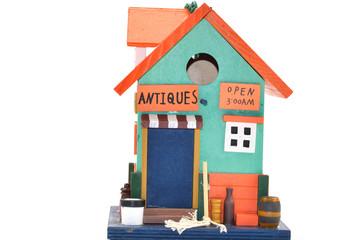 Vogelhuis als een Antiekwinkel