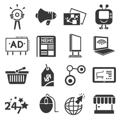 online, internet marketing concept icons