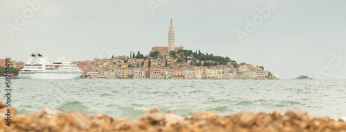 panoramic view on Rovinj, Croatia