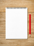 A white note book with lots of room for your text or image and a