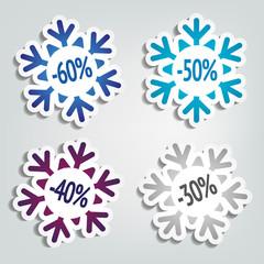Winter Sales Stickers