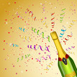 vector illustration of Champagne Bottle on party background