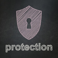 Protection concept: Shield With Keyhole and Protection
