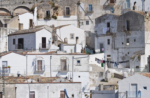 Panoramic view of Monte Sant'Angelo. Puglia. Italy. - 58208438