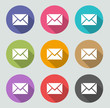 Message icon - Flat designs