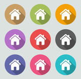 Home icon - Flat designs
