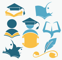 education and knowledge, reading symbols, books, studying