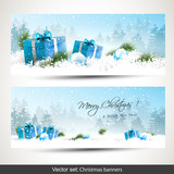 Fototapety Set of two Christmas banners