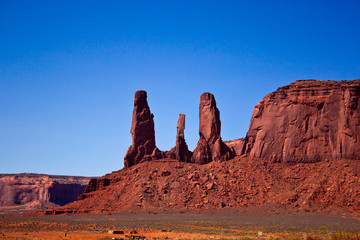 The Three Sisters, Monument Valley National Park, Arizona
