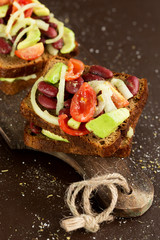 appetizer with avocado