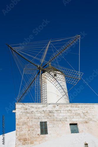 Ciutadella Es Moli windmill in Ciudadela Menorca