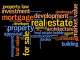 Real estate - word cloud concept