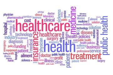 Health care - word cloud concept