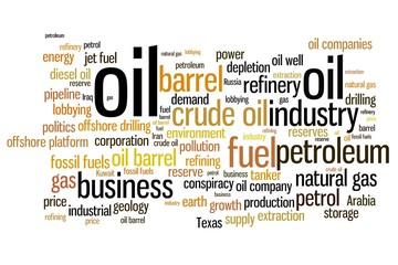 Oil industry - word cloud concept