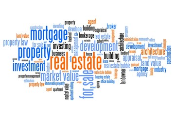 Property investment - word cloud concept