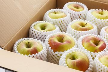 出荷されるりんご