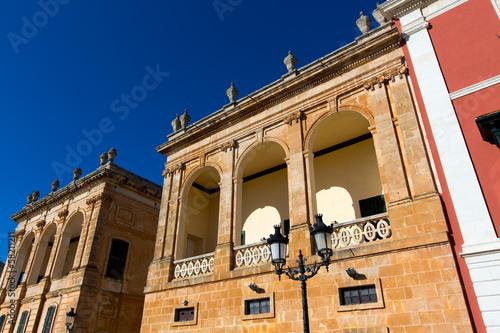 Ciutadella Menorca Placa des Born downtown Ciudadela