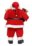 Funny Santa Claus doll with presents - back view