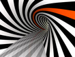 Leinwandbild Motiv Tunnel of lines, 3D
