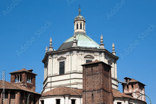 Milan - Basilica of San Lorenzo, dome on an octagonal drum