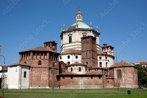 Milan - Basilica of San Lorenzo. View from the rear