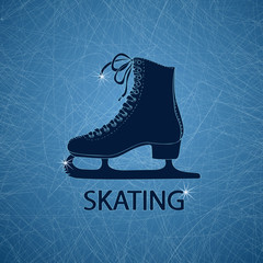 Illustration with figure skate