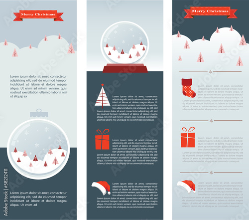 Christmas Infographic set of three info cards