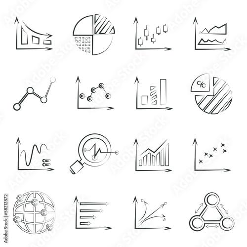 sketched chart, data chart set