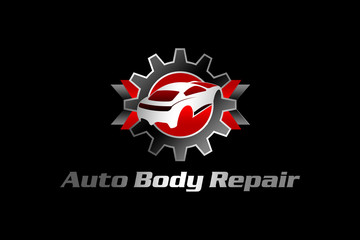 auto body repair black red