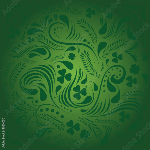 St Patricks day background in green colors