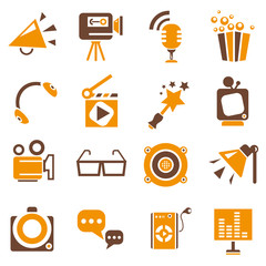movie icons, orange theme
