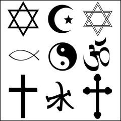 various religious symbol
