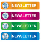 Newsletter banner set