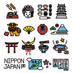 日本 観光 素材セット